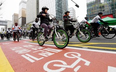 Thành phố Seoul khuyến khích người dân sử dụng xe đạp
