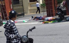 Điện giật 2 người chết, 1 người bị thương khi treo panô tại cổng huyện ủy