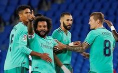 Thắng sít sao Sociedad, Real Madrid trở lại ngôi đầu bảng