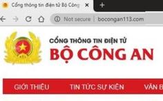 Giả website Bộ Công an, phát tán phần mềm gián điệp VN84App