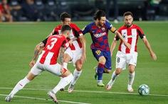 Messi 'tịt ngòi' trong ngày sinh nhật, Barcelona thắng chật vật Athletic Bilbao