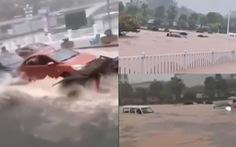 Ngập lụt gần đập Tam Hiệp, xe hơi bị nhấn chìm không mở được cửa để thoát