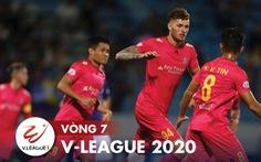Kết quả và bảng xếp hạng vòng 7 V-League: Sài Gòn lên nhì bảng, Hà Nội đứng thứ 6