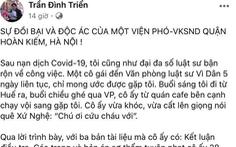 Bị tố moi tiền bị cáo, phó viện trưởng KSND quận Hoàn Kiếm bị tạm đình chỉ công tác