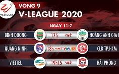 Lịch trực tiếp vòng 9 V-League 2020: HAGL gặp Bình Dương