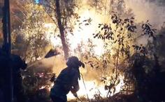 Đốt rác bất cẩn làm cháy rừng 2 xã, hơn 1.000 người oằn mình dập lửa trong đêm