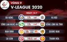 Lịch trực tiếp vòng 9 V-League 12-7: Sài Gòn đụng độ Thanh Hóa