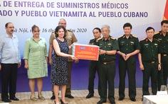Bộ Quốc phòng Việt Nam trao tặng 3 tấn vật tư y tế cho Cuba