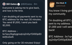 Twitter của Obama, Joe Biden, Bill Gates, Elon Musk bị hack để lừa bitcoin