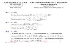 Đề và bài giải gợi ý môn toán lớp 10 chuyên ở TP.HCM