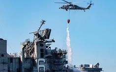 Mất 4 ngày mới dập tắt được đám cháy trên tàu chiến tỉ đô của Mỹ