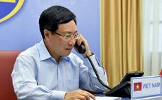 Phó thủ tướng Phạm Bình Minh điện đàm với Ngoại trưởng Mỹ Mike Pompeo
