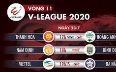Lịch trực tiếp vòng 11 V-League 2020: Tâm điểm Thanh Hóa gặp Hoàng Anh Gia Lai