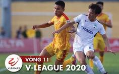 Kết quả, bảng xếp hạng vòng 11 V-League 2020 ngày 23-7: Ba trận bất phân thắng bại, tốp 4 yên vị