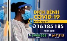 Dịch COVID-19 ngày 26-7: Chuyên gia Mỹ kêu gọi phong tỏa toàn quốc, Triều Tiên có ca nghi nhiễm