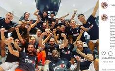 Ronaldo viết Instagram: 'Đã hoàn thành, vô địch Ý! Tôi rất hạnh phúc...'