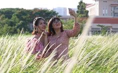 Bạn trẻ Sài Gòn thích thú check-in với cánh đồng cỏ hoang lau trắng