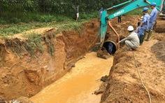 Giữa nắng nóng đỉnh điểm, Sông Đà thông báo dừng cấp nước vì vỡ đường ống