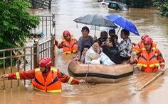 Vỡ đê sông Trường Giang