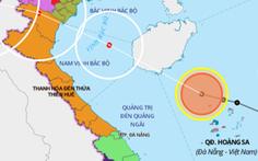 Áp thấp nhiệt đới đang trên biển Hoàng Sa, ngày 2-8 có thể thành bão
