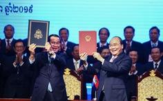 Giao nhận bản đồ địa hình biên giới Việt Nam - Campuchia