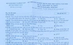 Đề và bài giải môn sinh kỳ thi tốt nghiệp THPT 2020 - đủ 24 mã đề
