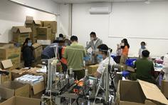 Công an tạm giữ 110.000 khẩu trang y tế tại nơi không có giấy phép kinh doanh
