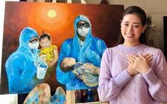 Hoa hậu Khánh Vân vi phạm bản quyền, sai thông tin khi vẽ tranh tri ân bác sĩ