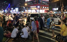 Nữ tài xế húc hàng loạt xe máy 10 người bị thương khai đạp nhầm chân ga