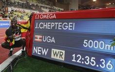 Joshua Cheptegei phá kỉ lục thế giới tồn tại 16 năm ở cự ly 5.000m