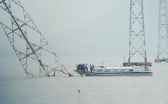 Đóng điện tạm sau sự cố nghiêng trụ giữa biển, sẽ lắp đèn cảnh báo va chạm ban đêm