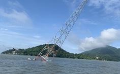 Trụ cao thế vượt biển đổ nghiêng, hơn 1.000 hộ dân đảo Hòn Tre mất điện