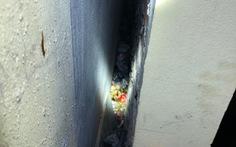 Bé trai sơ sinh bị vứt bỏ trong khe tường rất hẹp giữa hai nhà