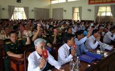 Chủ tịch huyện ở Long An không trúng vào Ban chấp hành Đảng bộ huyện