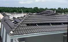 Sập mái nhà đang thi công: 2 người chết, 2 người bị thương