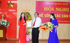 Bà Bùi Thị Quỳnh Vân làm bí thư, ông Đặng Ngọc Huy là phó bí thư Tỉnh ủy Quảng Ngãi