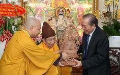 Phó thủ tướng Trương Hòa Bình thăm lãnh đạo Giáo hội Phật giáo Việt Nam tại TP.HCM