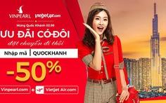 Ưu đãi 50% giá phòng Vinpearl khi bay Vietjet Air