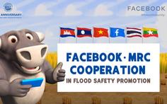 Facebook hợp tác cung cấp thông tin cảnh báo lũ sớm ven sông Mekong