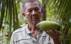Nước mặn khiến dừa teo tóp một nửa, giá chỉ còn 500 đồng một trái