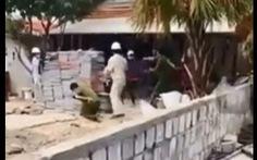 Khởi tố vụ xây công trình không phép trong mùa dịch còn ném đá vào cán bộ