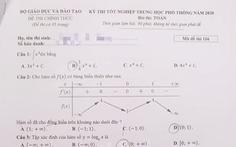 Gợi ý bài giải môn toán thi tốt nghiệp THPT 2020 - đủ 24 mã đề