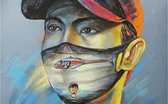Đen Vâu, Chi Pu đeo khẩu trang trên tranh của Lê Sa Long
