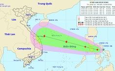 Áp thấp nhiệt đới hướng vào Biển Đông, dự báo mạnh thành bão