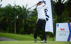 Giải Golf for Start-up 2020: Trời đổ mưa, các golfer gặp khó
