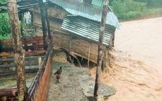 Nhà cửa đổ sập, trâu bò chết trôi tại Tây Giang do bão số 5