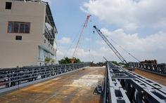 Cầu sắt An Phú Đông không kịp thông xe trong tháng 9-2020