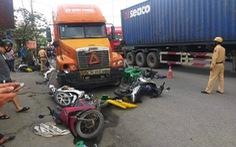 Tài xế container có hơi men gây tai nạn liên hoàn làm 5 người bị thương