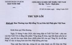 Ban biên tập báo Tuổi Trẻ xin lỗi Giáo hội, Tăng Ni, Phật tử