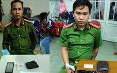 Phê chuẩn khởi tố, bắt tạm giam 2 kẻ giả sĩ quan công an đọc lệnh bắt người